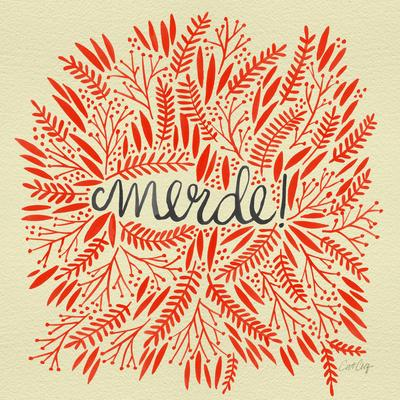 Merde – Red on Yellow