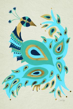 Peacock in Gold and Turquoise