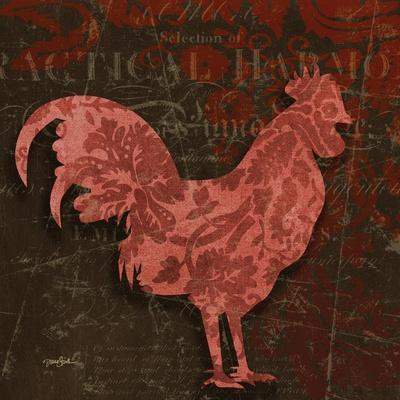 Rooster Damask 1