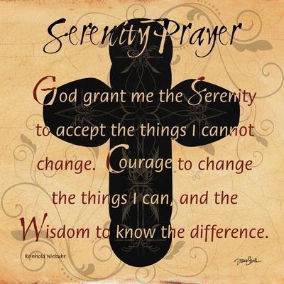 Serenity Prayer Cross