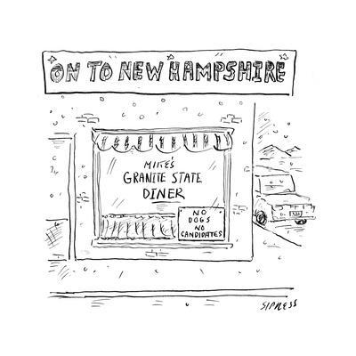 On to New Hampshire - Cartoon