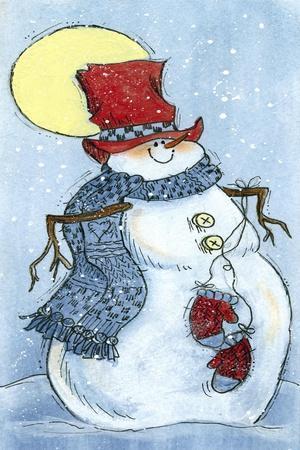 Full Moon Snow Man
