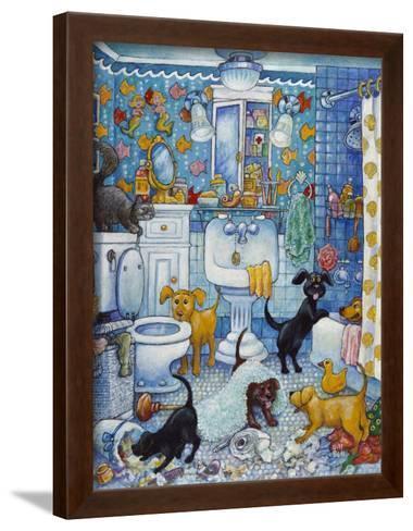 """Canvas Art Print /""""More Bathroom Pups/"""""""