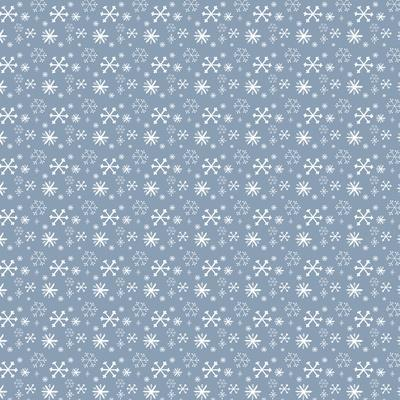 Pattern Blue Snowflakes