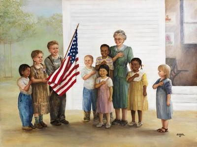 Children Doing Pledge of Allegiance