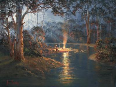 Megalong Creek Moonrise
