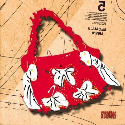 Bow Purse White on Red