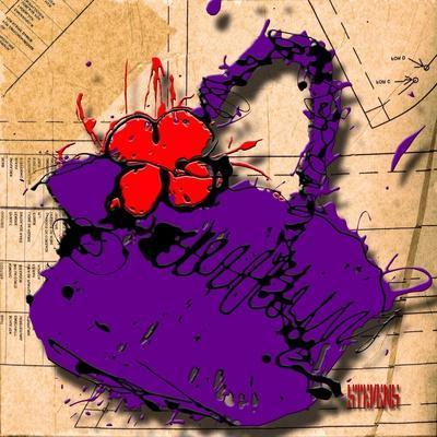 Flower Purse Red on Purple