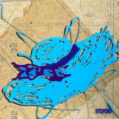 Blue Floppy Purple Bow