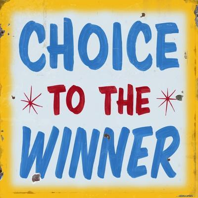 Choice to Winner Distressed Gold Border