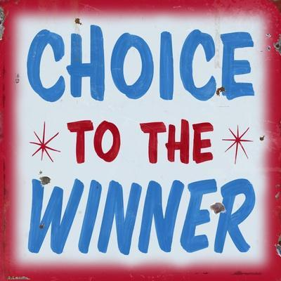 Choice to Winner Distressed Red Border