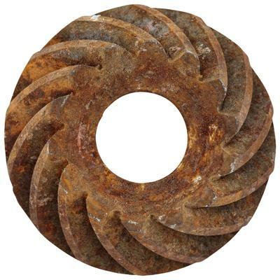Rusty Large Spiral Gear