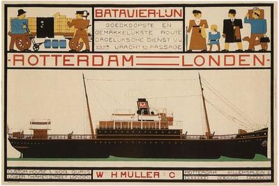 Rotterdam London Travel Poster
