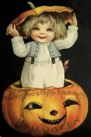 Halloween Pumpkin Head Child