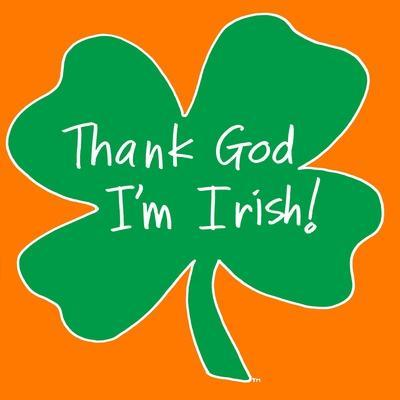 Thank God I'm Irish Shamrock
