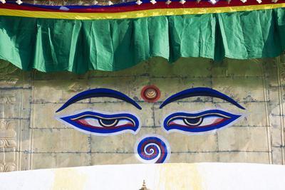 Holy Eyes of the Monkey Temple, Kathmandu, Nepal