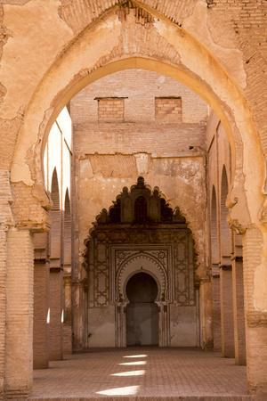 Morocco, Marrakech, Tinmal. the Great Mosque of Tinmal