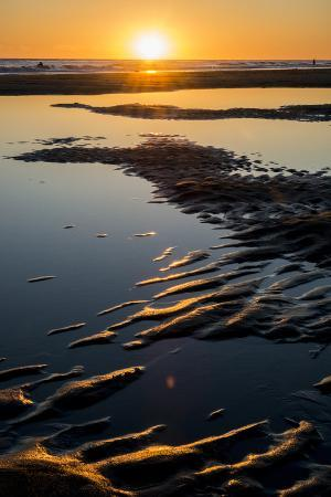 California, Carpinteria, Santa Barbara Channel, Beach at Low Tide