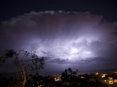 USA, California, del Mar Lightning Storm