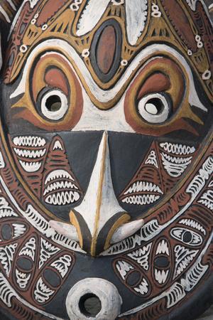 Papua New Guinea, Murik Lakes, Karau Village. Traditional Carved Masks