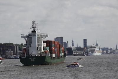 The Harbor Area of Hamburg, Germany
