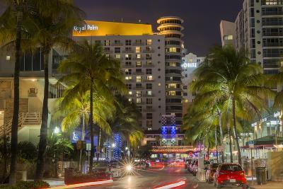 Dusk Light on Ocean Drive in South Beach in Miami Beach, Florida, USA