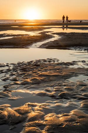 California, Carpinteria, Santa Barbara Channel, Beach at Low Tide