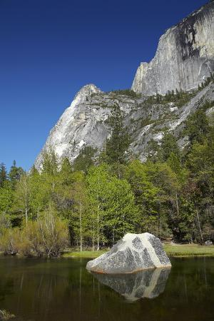 North West Face of Half Dome, and Mirror Lake, Yosemite NP, California