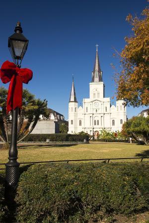 LA, New Orleans. Jackson Square St Louis Cathedral Plaza d' Armas