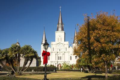 USA, LA, New Orleans. Jackson Square St Louis Cathedral Plaza d' Armas