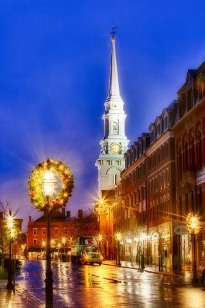 The North Church and Congress Street in Portsmouth, New Hampshire