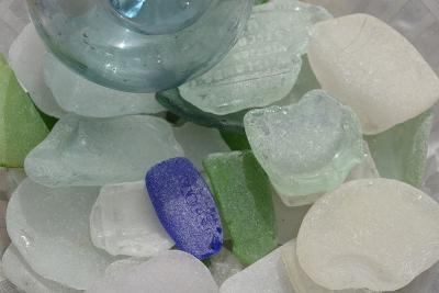 USA, Alaska, Ketchikan, Beach Glass