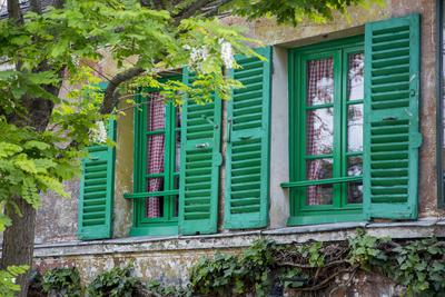 Green Shuttered Window on Lapin Agile, Montmartre, Paris, France