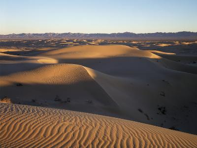 California, Imperial Sand Dunes, Patterns of Glamis Sand Dunes