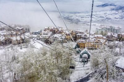 Taking the Gondola Up the Mountain at Telluride Ski Resort