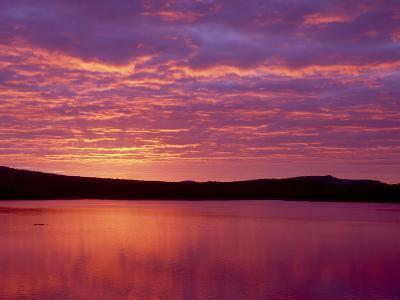 Grand Lake Matagamon, Brilliant Sunrise, Baxter State Park, Maine