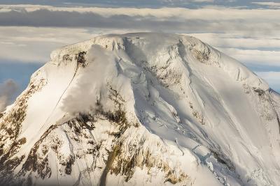 Iliamna Volcano Rising Up in Aleutian Mountain Range of Alaska