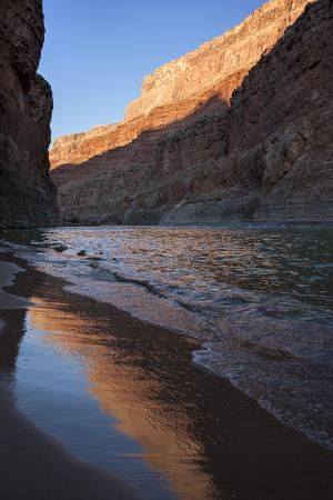 USA, Arizona, Grand Canyon National Park. Sunrise Reflects Off Sand