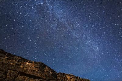 Arizona, Grand Canyon NP. The Milky Way Above Rim of Marble Canyon