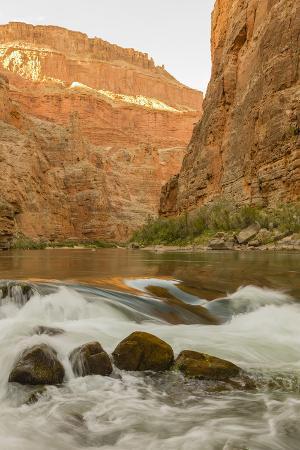 Reflections from Morning Sun. Colorado River. Grand Canyon. Arizona