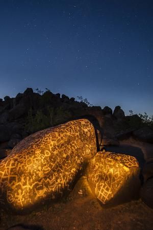 Arizona, Painted Rock Petroglyph Site. Rocks Covered with Petroglyphs
