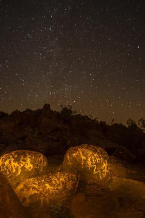 Arizona, Painted Rock Petroglyph Site. Rocks Covered with Petroglyphs