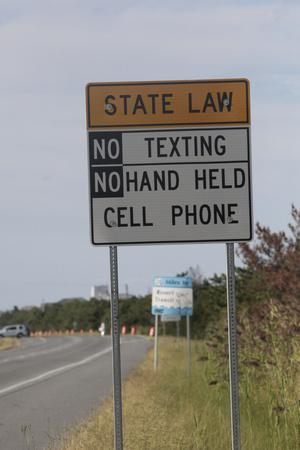 No Texting Sign on Us Highway 1 in Delaware