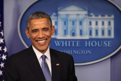 President Barack Obama at a News Conference, Brady Press Briefing Room