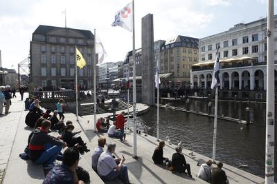 Canal Scene in Hamburg, Germany