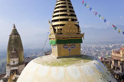 Swayambunath Stupa or Monkey Temple, Kathmandu, Nepal