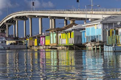 Bahamas, Nassau. Vendors' Shacks in Potters Cove