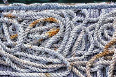 Tortola, British Virgin Islands. Detail of Nautical Rope Wit Rust