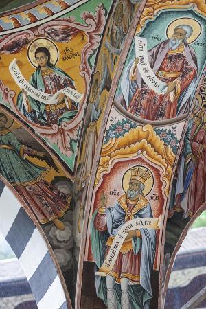 Bulgaria, Southern Mountains, Rila, Rila Monastery, Wall Frescoes