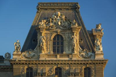 Sunset on Architectural Detail at Musee Du Louvre, Paris, France